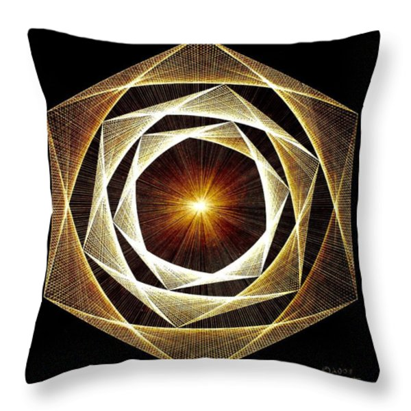 Spiral Scalar Throw Pillow by Jason Padgett