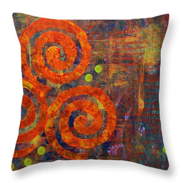 Spiral Series - Railing Throw Pillow by Moon Stumpp