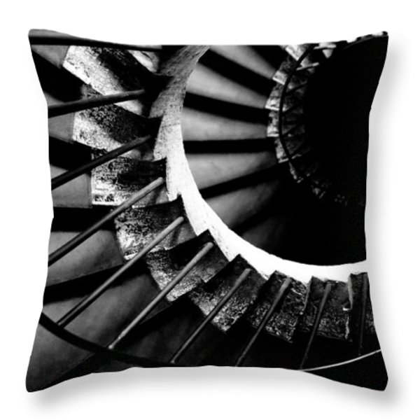 Spiral staircase Throw Pillow by Fabrizio Troiani