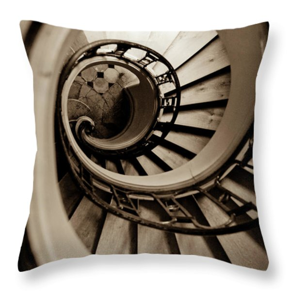Spiral Staircase Throw Pillow by Sebastian Musial