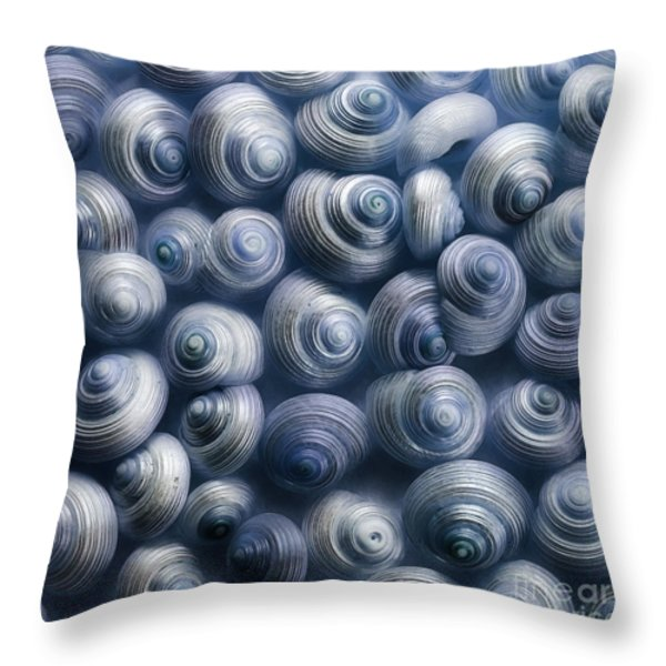 spirals blue Throw Pillow by Priska Wettstein