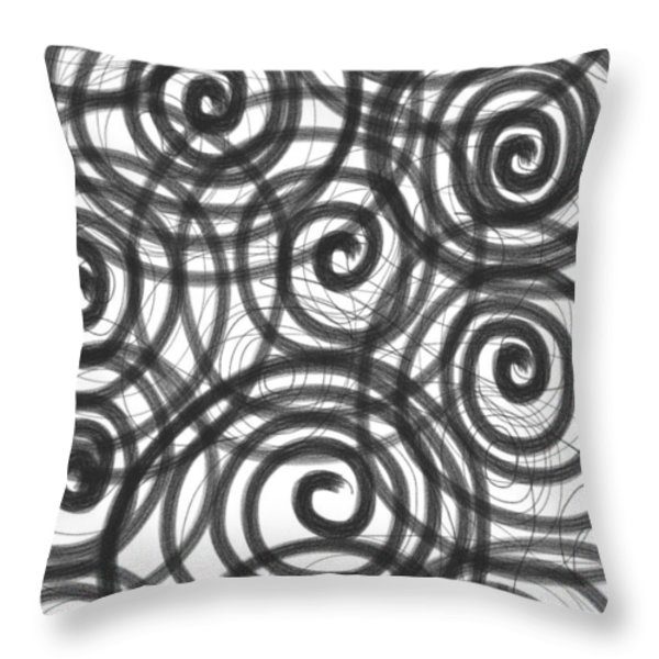Spirals of Love Throw Pillow by Daina White