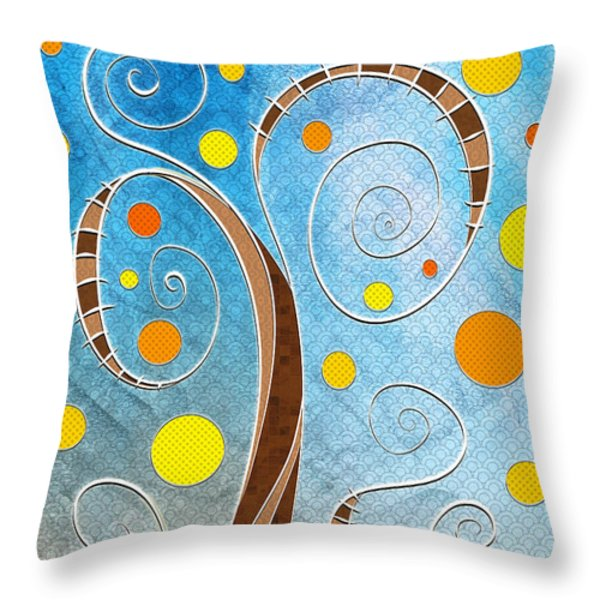 Spiralscape Throw Pillow by Shawna  Rowe