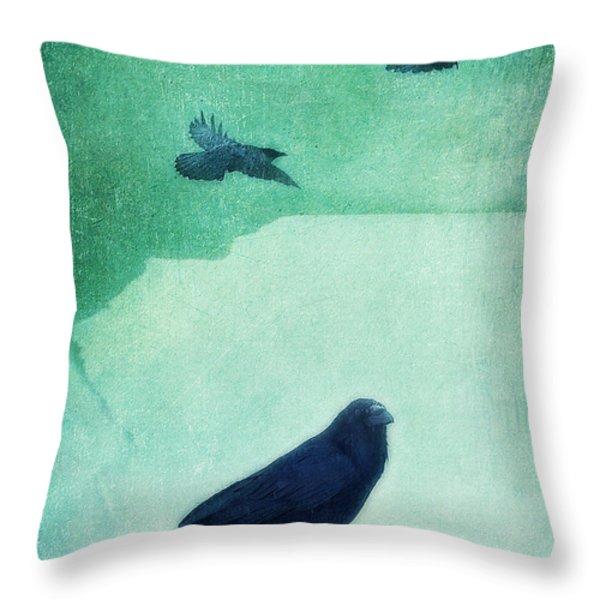 spirit bird Throw Pillow by Priska Wettstein