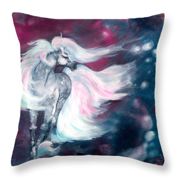 Spirit Horse Throw Pillow by Sherry Shipley