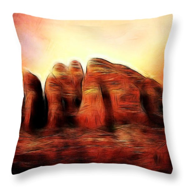 Spirit Mountain Throw Pillow by Ellen Heaverlo