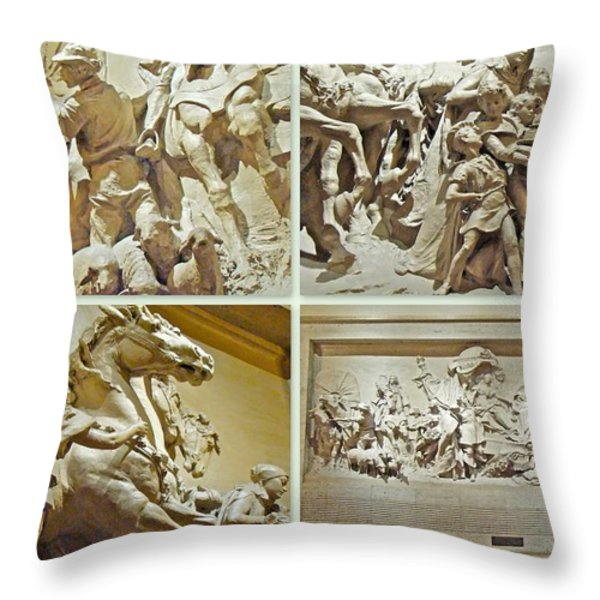 Spirit Of Transportation 1895 By Karl Bitter - Philadelphia Throw Pillow by Mother Nature