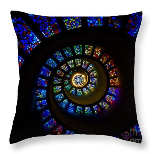 Spiritual Spiral Throw Pillow by Inge Johnsson
