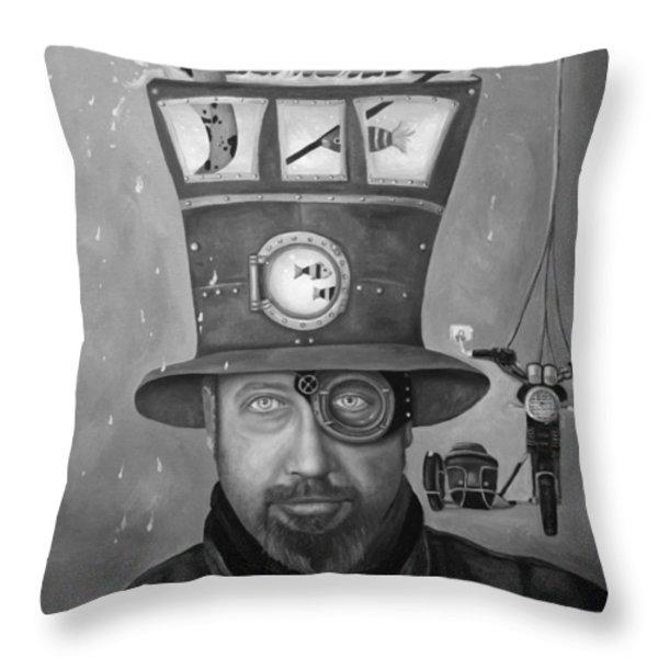 Splash Bw Throw Pillow by Leah Saulnier The Painting Maniac