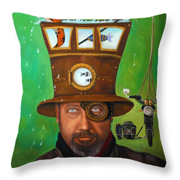 Splash Edit 3 Throw Pillow by Leah Saulnier The Painting Maniac