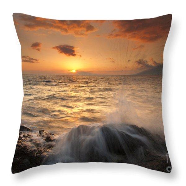 Splash of Paradise Throw Pillow by Mike  Dawson