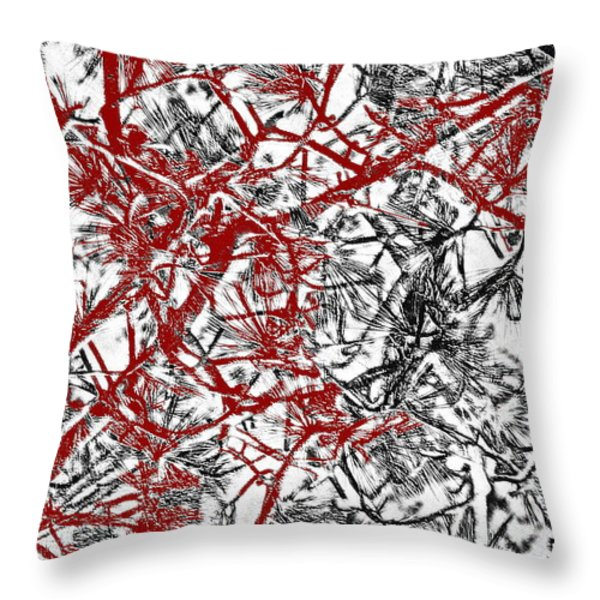 Splash Of Red Throw Pillow by Gwyn Newcombe