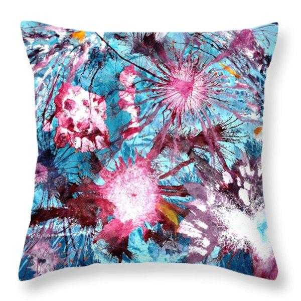 Splash Throw Pillow by Sumit Mehndiratta