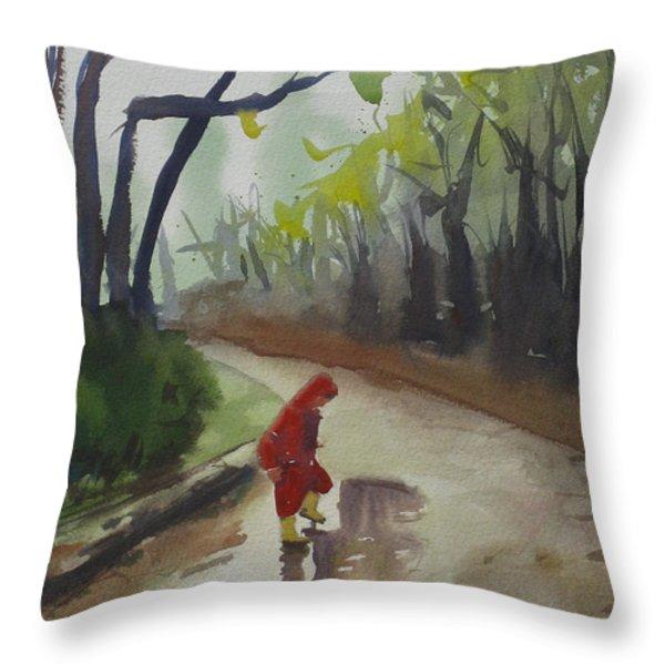 Splashing Throw Pillow by John Holdway