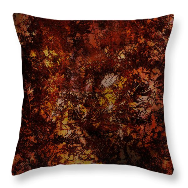 Splattered  Throw Pillow by James Barnes