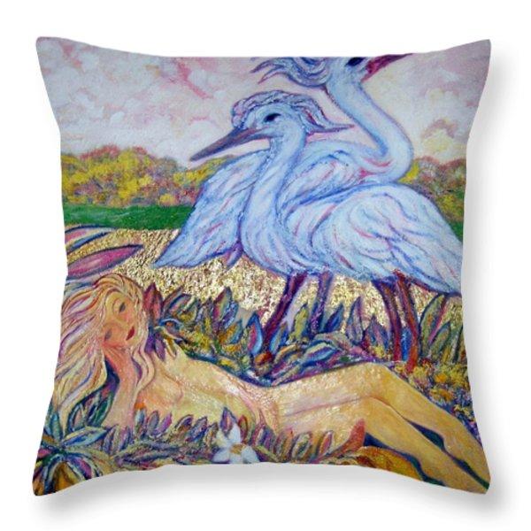 SPLENDOR in the GRASS  2 Throw Pillow by Gunter  Hortz