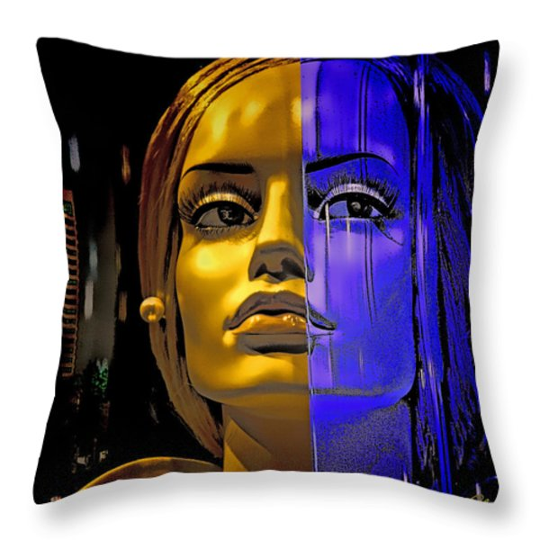 Split Personality Throw Pillow by Chuck Staley