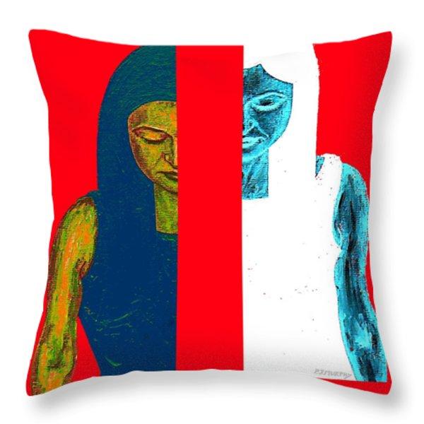 Split Personality Throw Pillow by Patrick J Murphy