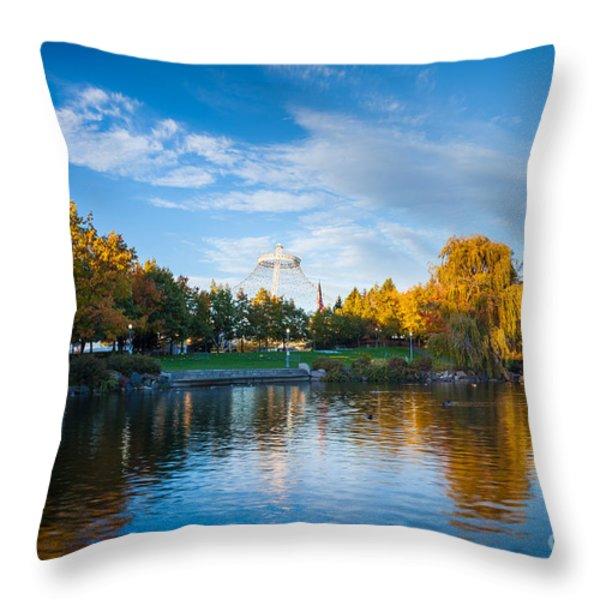 Spokane Reflections Throw Pillow by Inge Johnsson