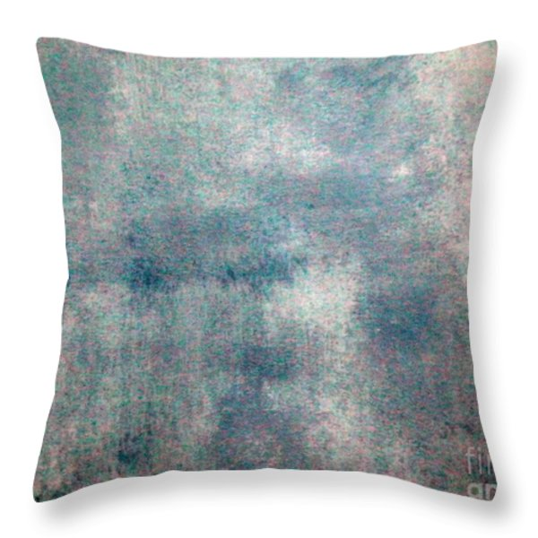 Sponged Throw Pillow by Joseph Baril