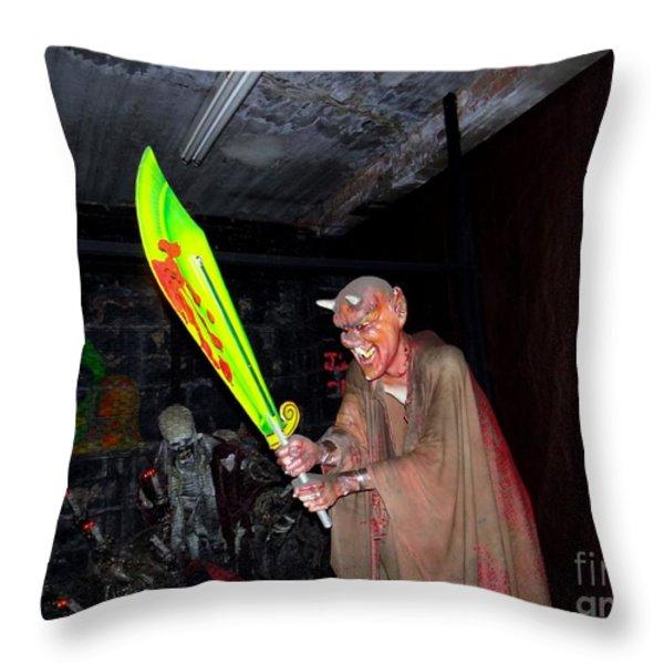 Spook House Throw Pillow by Ed Weidman