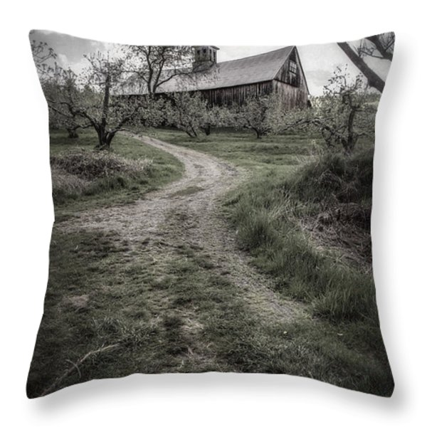 Spooky Apple Orchard Throw Pillow by Edward Fielding