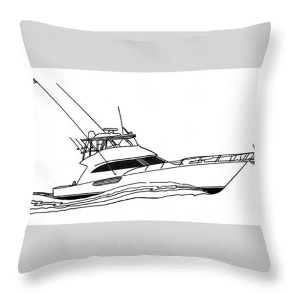 Sport Fishing Yacht Throw Pillow by Jack Pumphrey