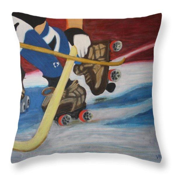 Sports Hockey-3 Throw Pillow by Vitor Fernandes VIFER