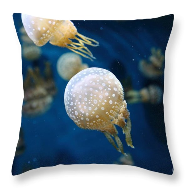 Spotted Jelly Fish 5D24949 Throw Pillow by Wingsdomain Art and Photography