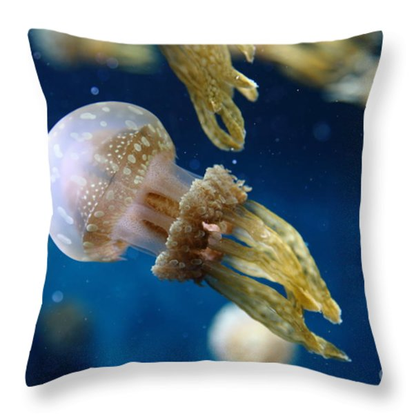 Spotted Jelly Fish 5d24955 Throw Pillow by Wingsdomain Art and Photography