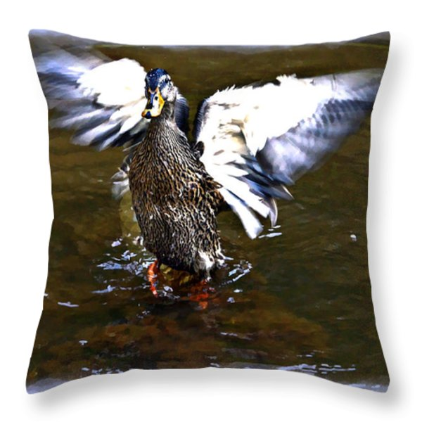 Spread Your Wings Throw Pillow by Susan Leggett