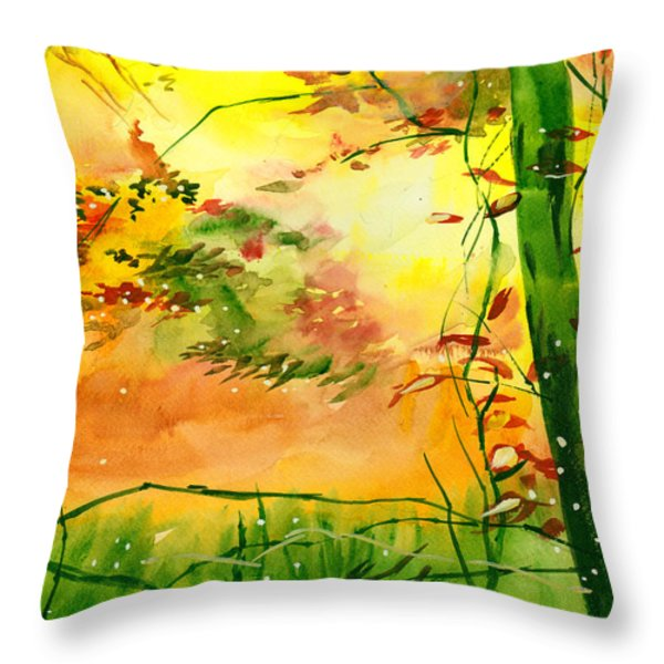 Spring 1 Throw Pillow by Anil Nene