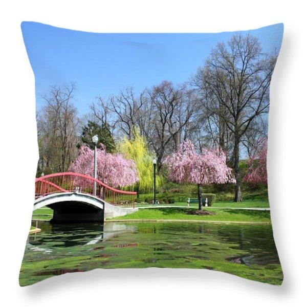 Spring At Italian Lake Throw Pillow by Lori Deiter