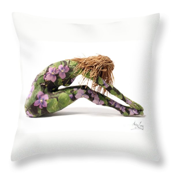 Spring Awakens Sculpture Throw Pillow by Adam Long