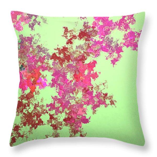 Spring Bouquet  Throw Pillow by Tatjana Popovska