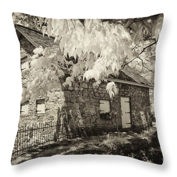Spring Creek Mill Throw Pillow by Paul W Faust -  Impressions of Light