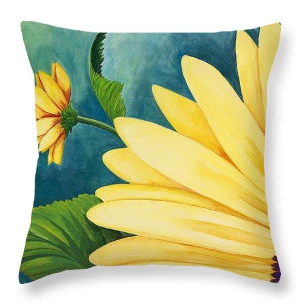 Spring Daisy Throw Pillow by Carol Sabo
