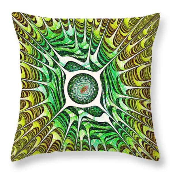 Spring Dragon Eye Throw Pillow by Anastasiya Malakhova