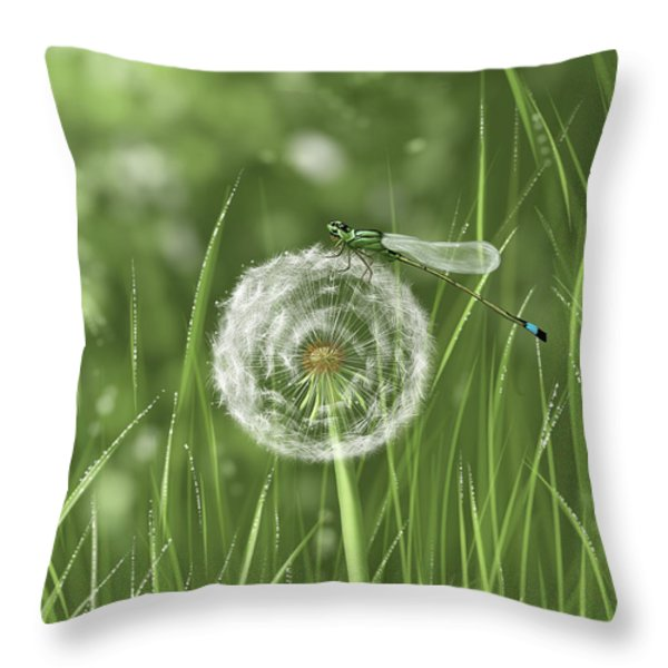Spring Flowering Throw Pillow by Veronica Minozzi