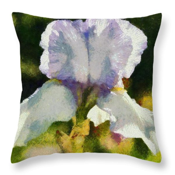 Spring Flowers Throw Pillow by George Atsametakis