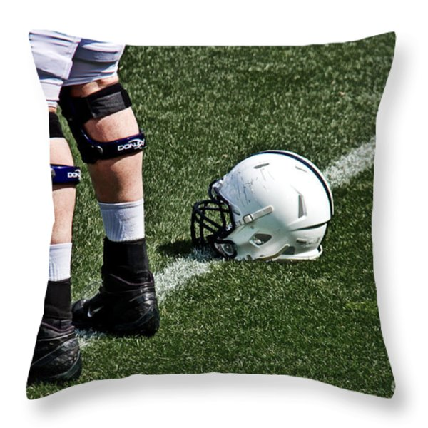 Spring Football Throw Pillow by Tom Gari Gallery-Three-Photography