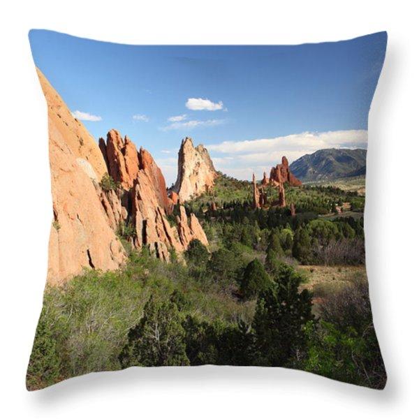 Spring Garden Throw Pillow by Eric Glaser