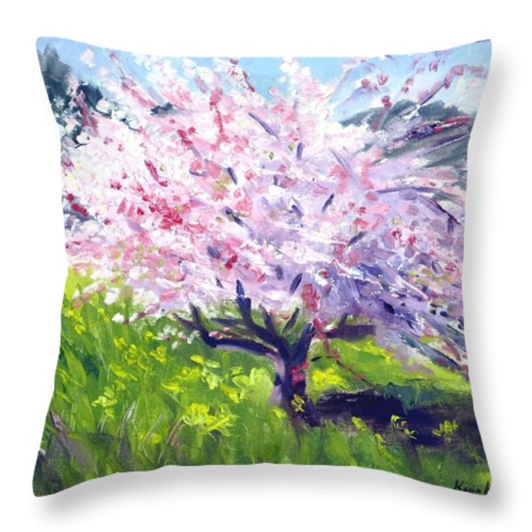 Spring Glory Throw Pillow by Karin  Leonard
