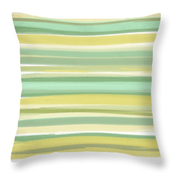 Spring Green Throw Pillow by Lourry Legarde