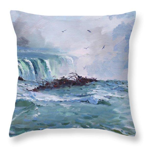 Spring In Niagara Falls Throw Pillow by Ylli Haruni