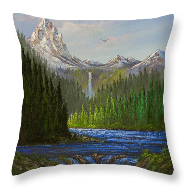 Spring In The Rockies Throw Pillow by C Steele