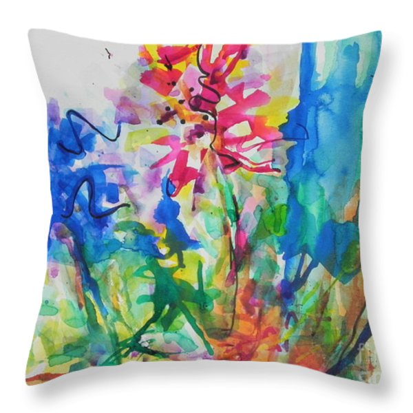 Spring Is In The Air Throw Pillow by Chrisann Ellis