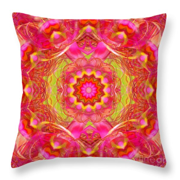 Spring Joy Throw Pillow by Hanza Turgul