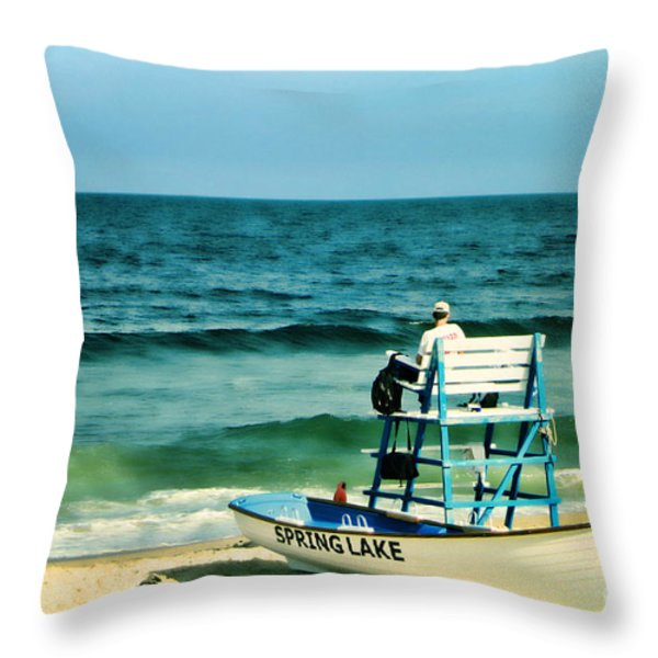 Spring Lake Throw Pillow by Olivier Le Queinec