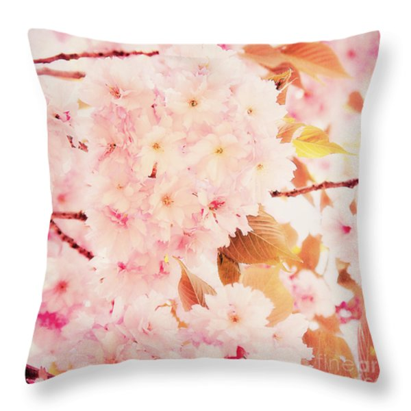 Spring love Throw Pillow by Angela Doelling AD DESIGN Photo and PhotoArt
